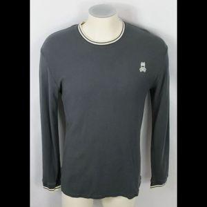 Psycho Bunny Men's Shirt sz M Ribbed Soft Cotton/M